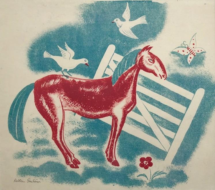 Kathleen Gardiner, Horse and Gate, c. 1930s