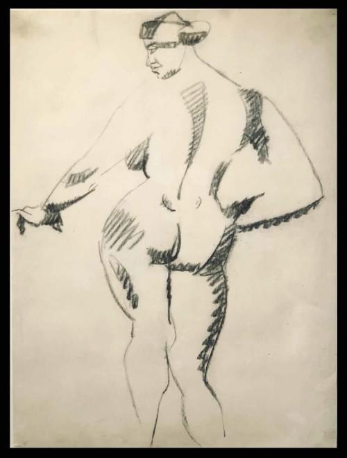 Henri Gaudier-Brzeska, Standing Female Nude, Back View, 1913