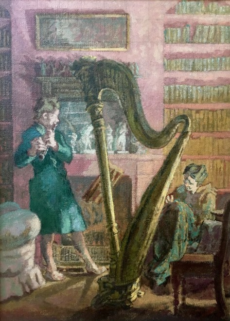 Thérèse Lessore (1884-1945)  The Recital, c. 1930