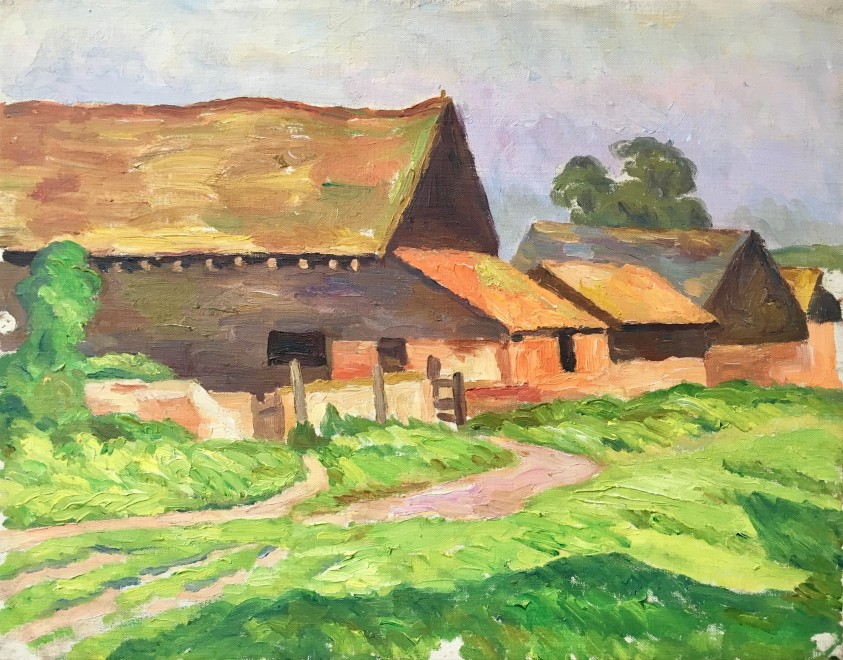 FREDERICK JAMES PORTER (1883-1944)  Sussex Barns, c. 1930
