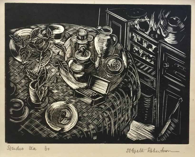 J. Elspeth Robertson, Studio Tea, c. 1925