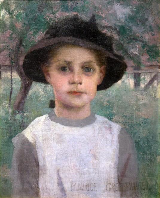 Maurice Greiffenhagen, A Village Girl, 1886