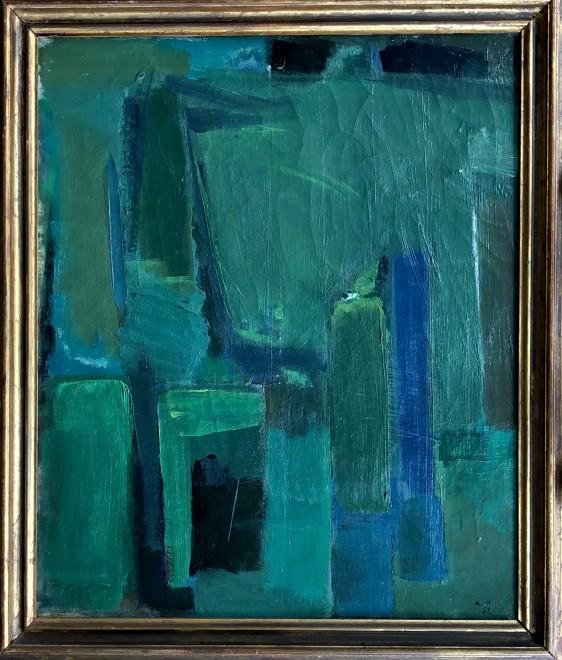 Kjeld Hansen , Composition in Green, 1952