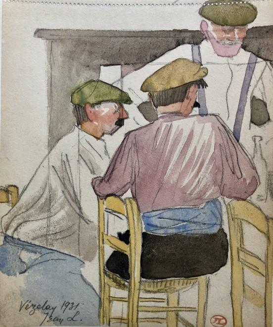 Jean Lébédeff, Bistro, Vézelay, 1931