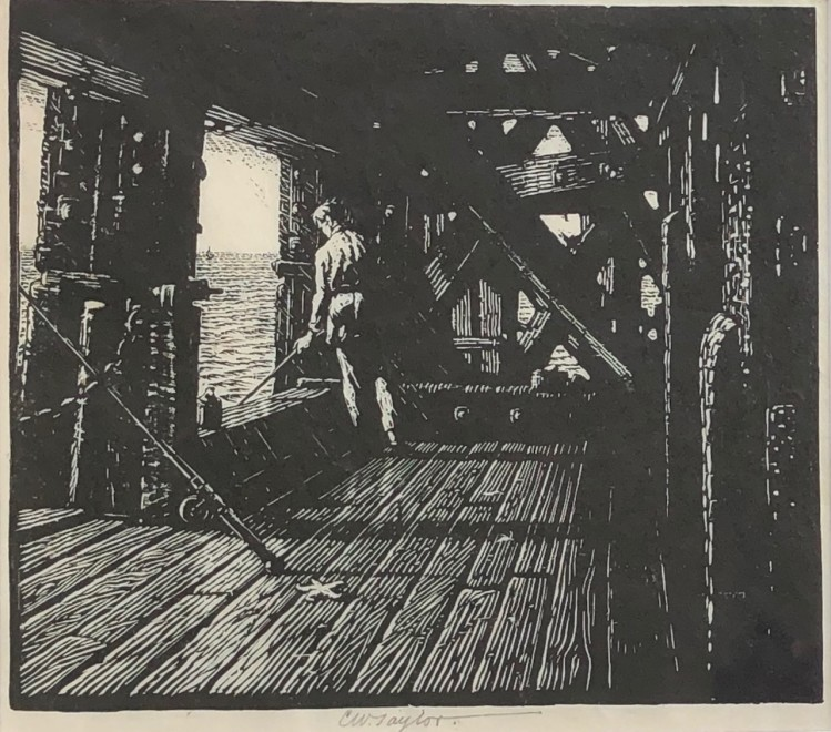 Charles William Taylor, Fisherman and Pier, c. 1930s
