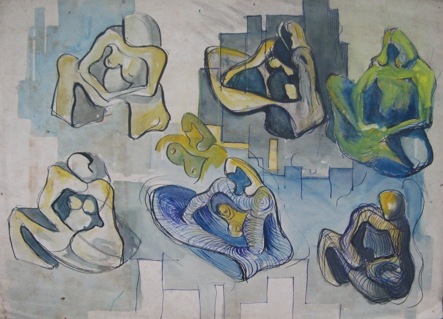 Cuthbert Hamilton, STUDIES FOR SCULPTURE, 1930's