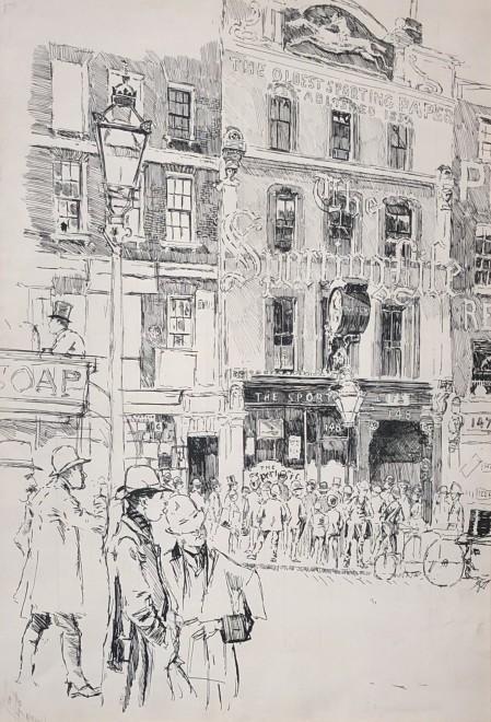 Joseph Pennell, The Sporting Life Building, 148 Fleet Street, London, 1891