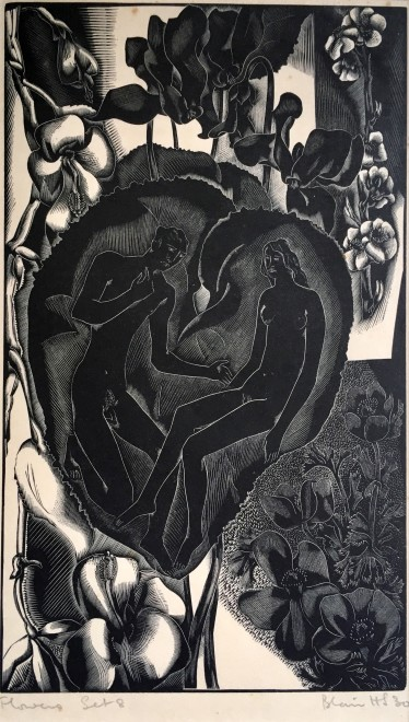 Blair Hughes-Stanton, Flower Set 8 (Birds, Beasts and Flowers), 1930s