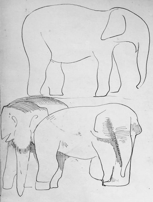 Rupert Lee, Elephants, 1919