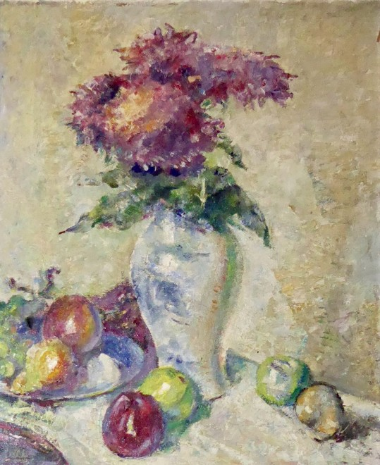 Alfred Wolmark, Still Life with Flowers and Apples, c. 1920