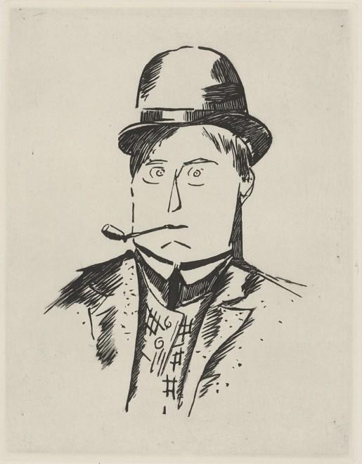 Maurice de Vlaminck, Self Portrait with Pipe, c. 1908
