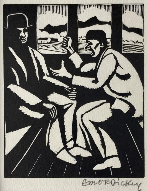 Edward O'Rorke Dickey, Figures on a Train, c. 1925