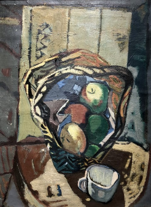 Kenneth Lauder, Basket of Apples and Cup, 1949