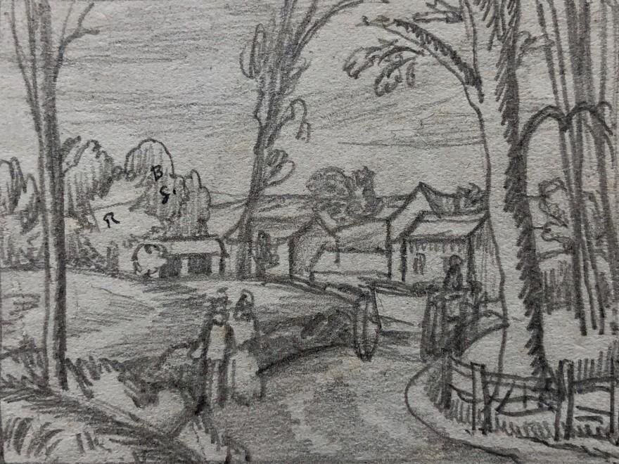 Ethelbert White, The Lane to The Farm, c. 1922