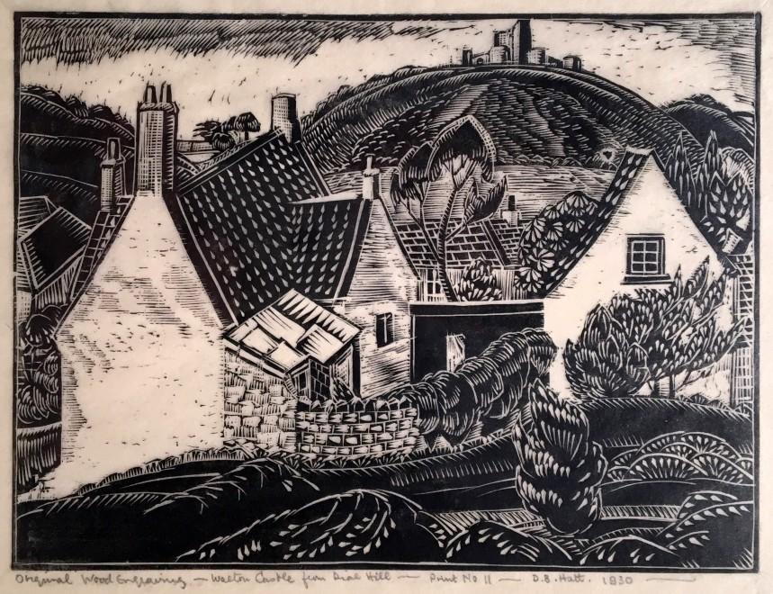 Doris Hatt, Walton Castle from Dial Hill, 1930