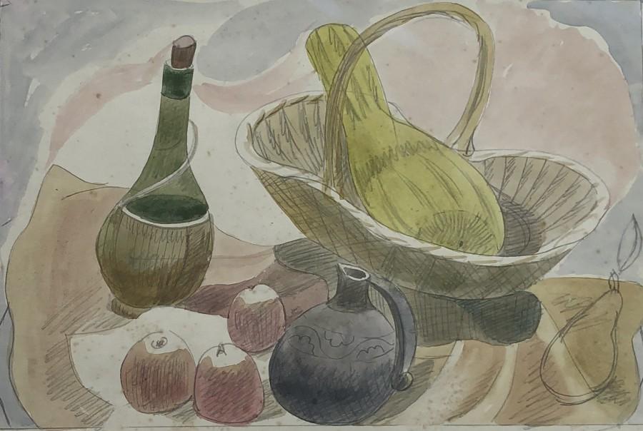 Doris Hatt, Still Life with Basket and Apples, c. 1940s