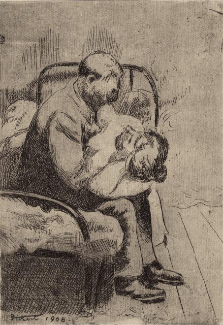 Walter Sickert, The Camden Town Murder (Larger plate), 1908