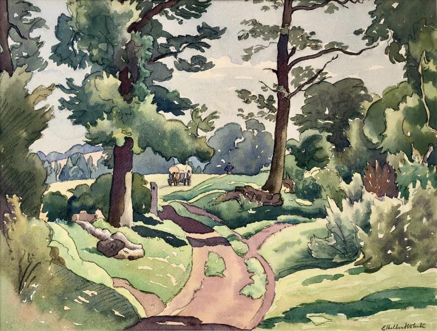 Ethelbert White, The Lane to The Cornfield, c. 1928