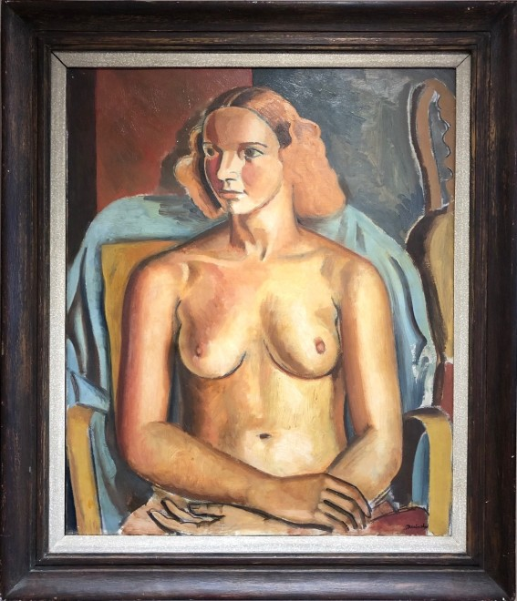 Bernard Meninsky, Seated Nude, 1932