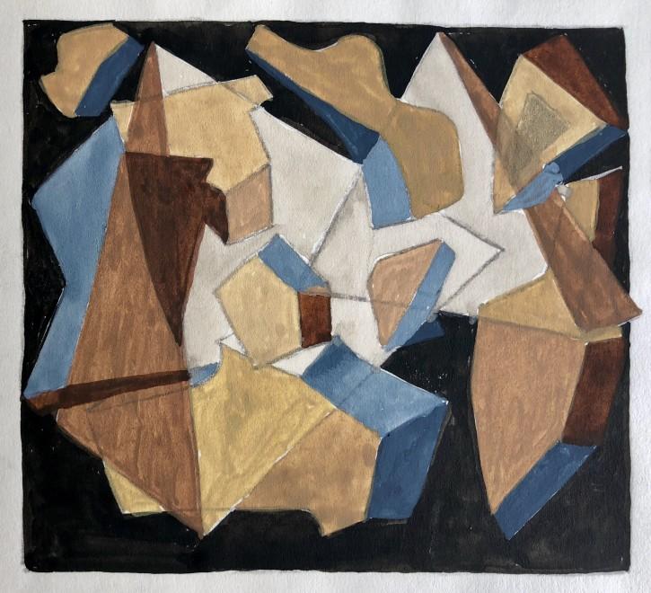 Doris Hatt, Cubist Landscape Composition, 1950's