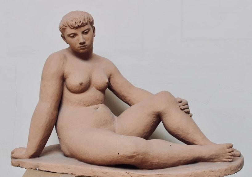 Edward Folkard, Seated Nude, 1948