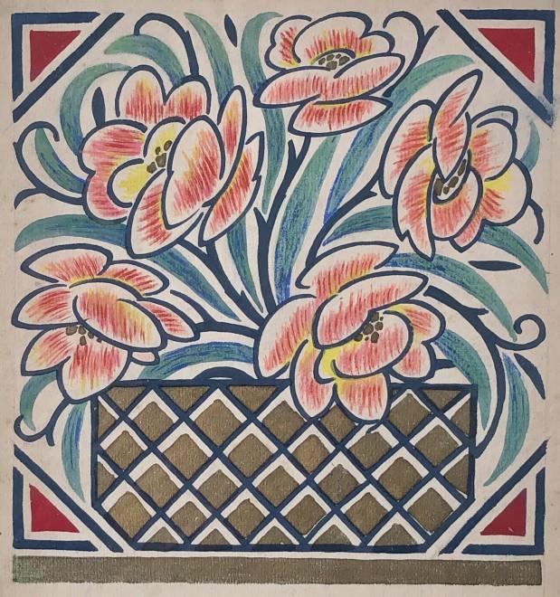 Nicolas Sorokine, Flower Design, c. 1920