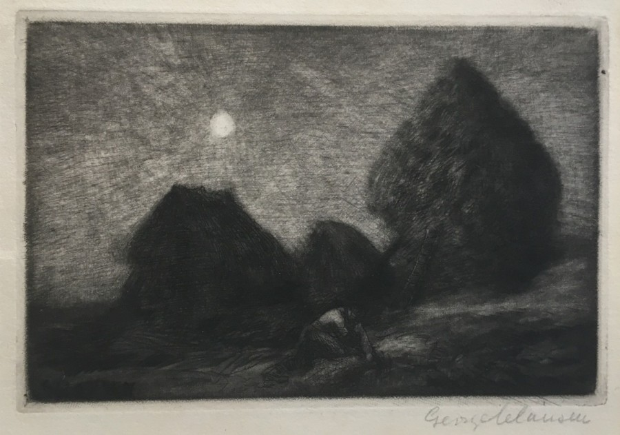 George Clausen, Ricks by Moonlight, 1894