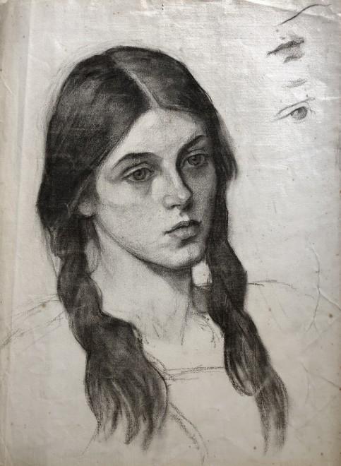 Sir George Clausen, Portrait Study, 1909