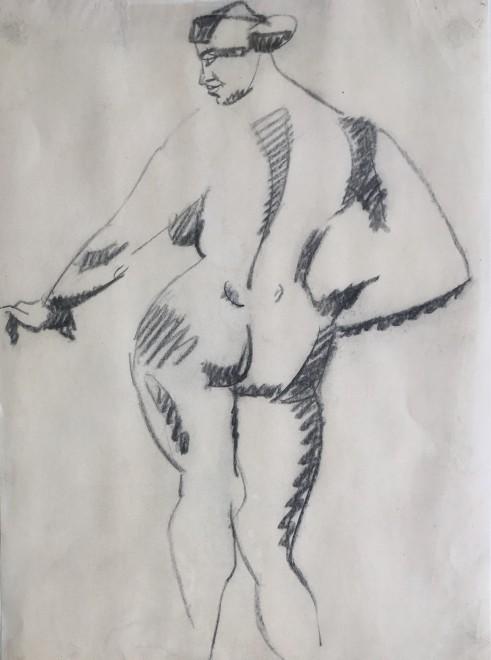 Henri Gaudier-Brzeska (1891-1915)  Standing Female Nude, Back View, 1913