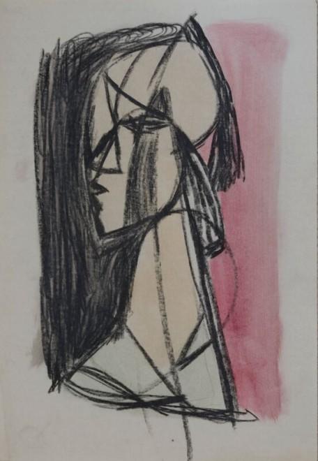 Kenneth Lauder, Head Study 3, 1950