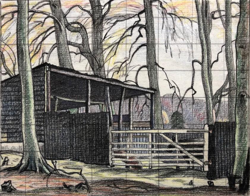Ethelbert White, A Sussex Farmyard, c. 1922