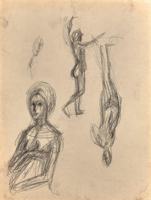 Alberto Giacometti , D'après Raphaël : La Fornarina et détail du Péché Originel ; d'après Lorenzo di Credi : Vénus