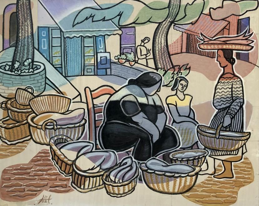 Doris Hatt, Fish Market,Cadaques, 1962