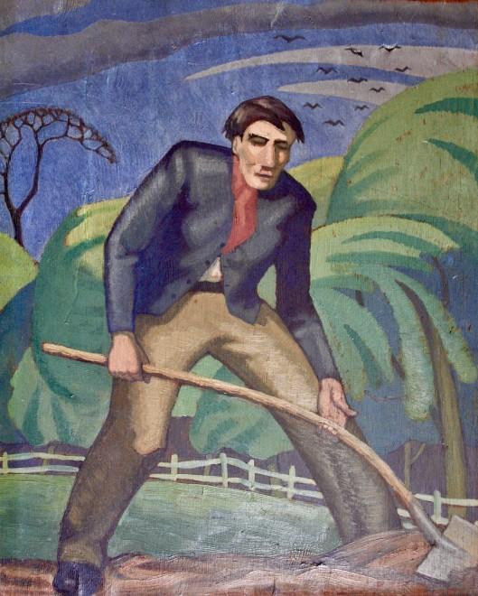 Ethelbert White, Digging Man, 1916