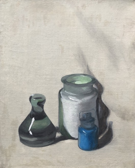 Andrew Forge, Still Life with Pigment Bottles, 1948