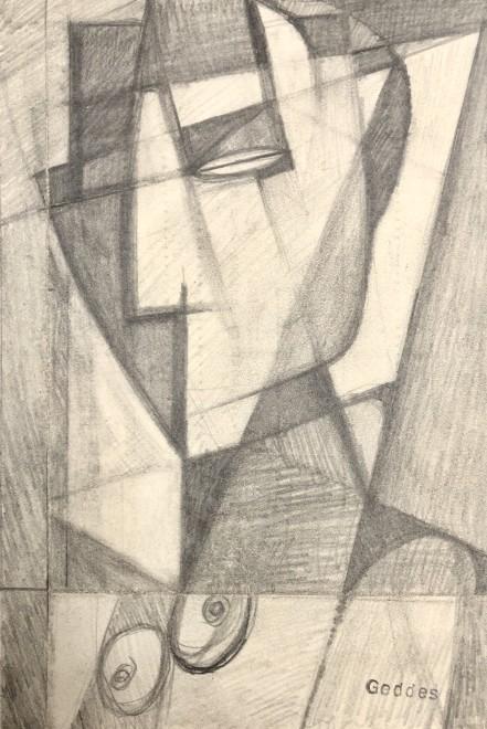 Margaret Geddes, Cubist Bust of a Woman, 1950