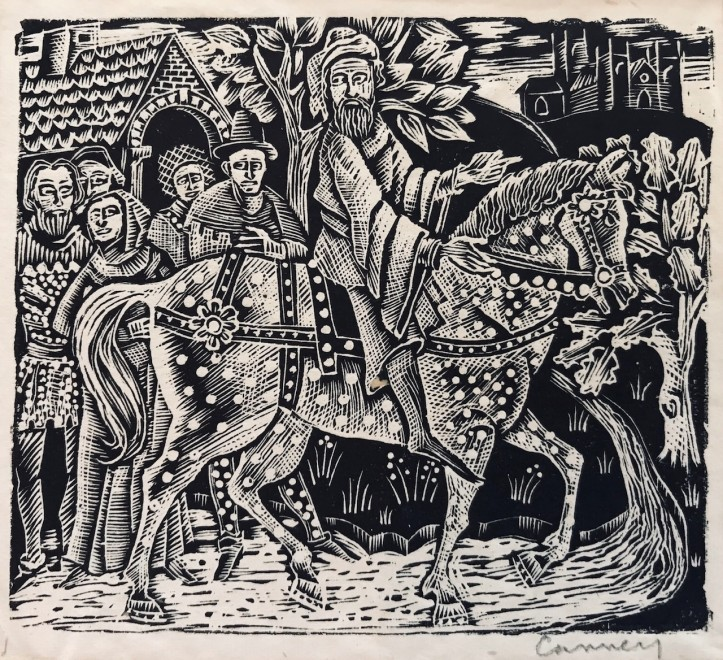 Michael Canney, Design for The Canterbury Tales, c. 1947