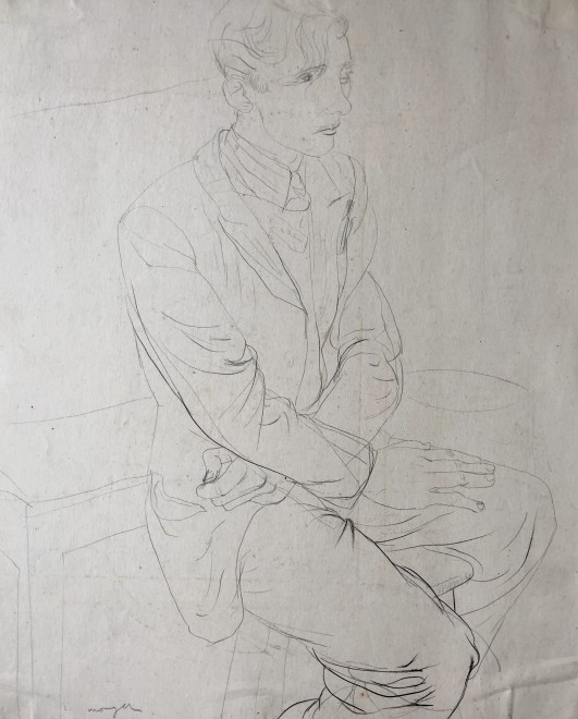 Glyn Morgan, Art Student, Benton Road (Self Portrait), c. 1940s