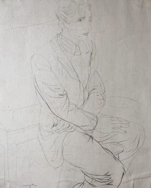 Glyn Morgan, Art Student, Benton Road (Self Portrait), c. 1940s