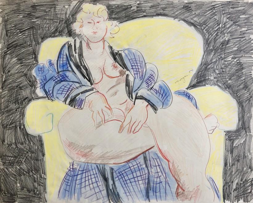 Glyn Morgan, Seated Nude, 1957