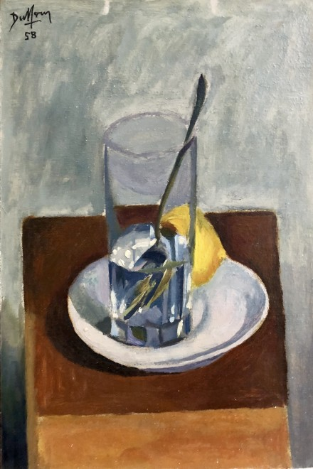 Still Life with Glass and Dish