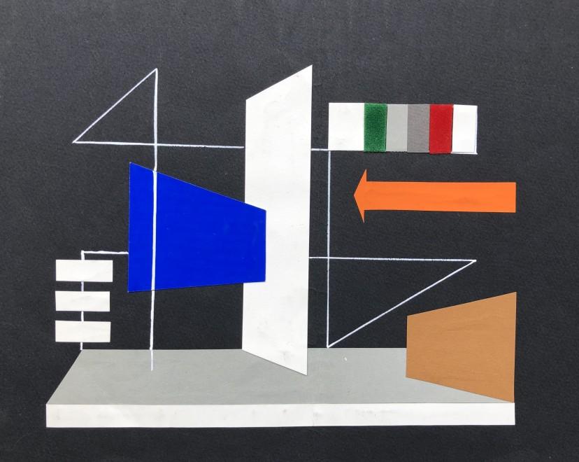 Maurice Genis, Constructivist Composition, 1950