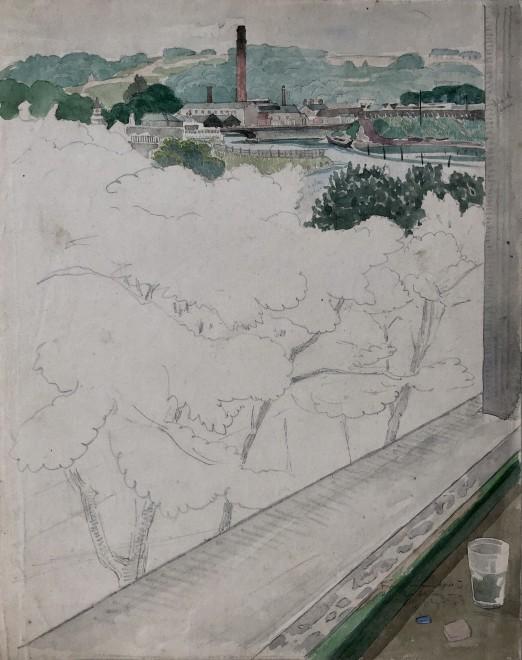 John Nash, Millworks, Landscape, West Yorkshire, 1920
