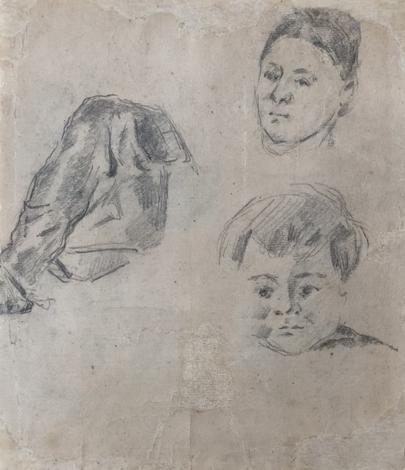 Study of Madame Cézanne and the artist's son Paul