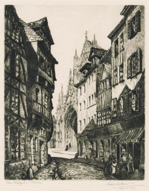 Sybil Andrews, Rue Malpau, Rouen, 1926
