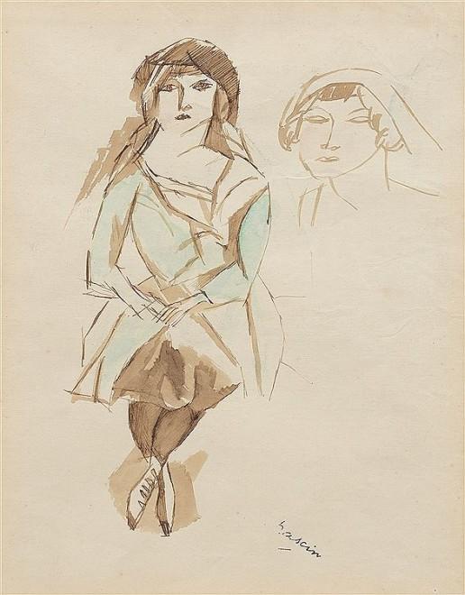 Jules Pascin, Femme assise, c. 1920