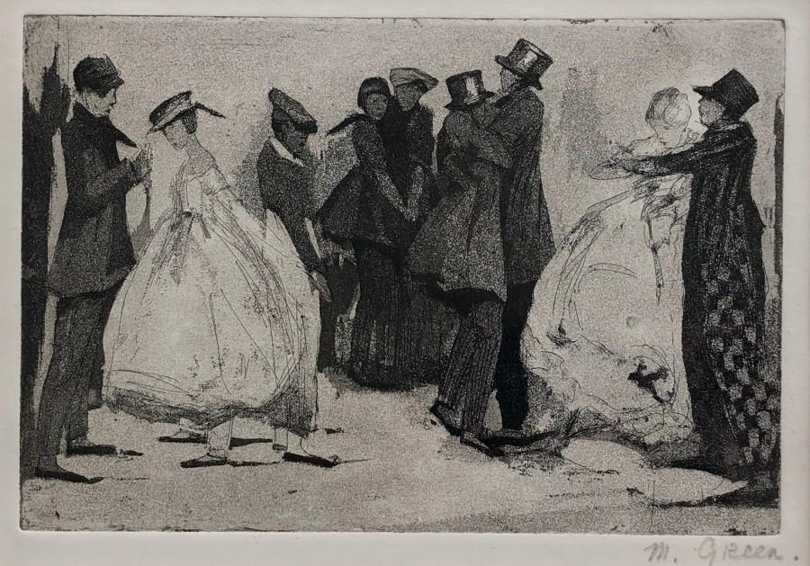 Madeline Green, Dancers, c. 1910