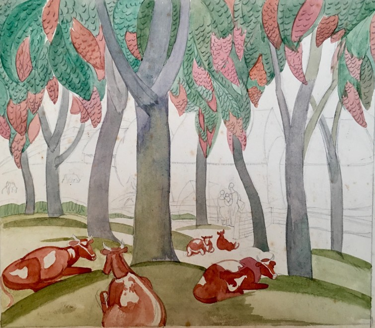 Cows and Trees, 1935
