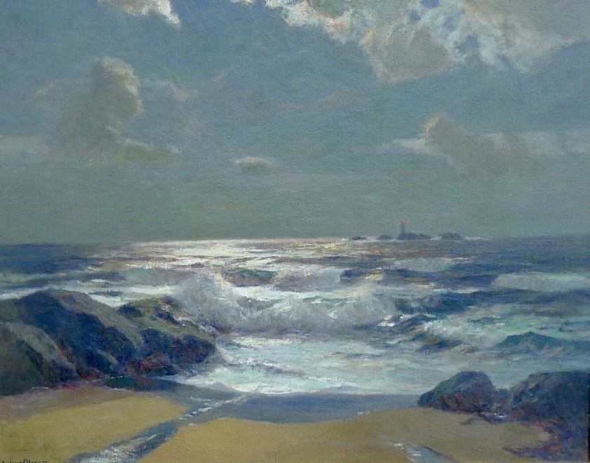 Julius Olsson, The Longships Light from Lands End, c. 1895