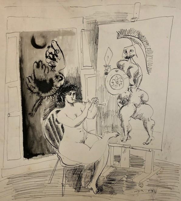 Glyn Morgan, Artist's Model, 1957